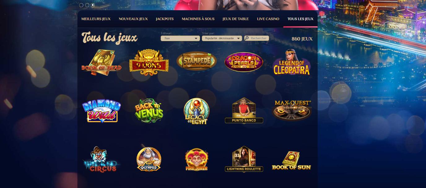 casino VegasPlus ludothèques